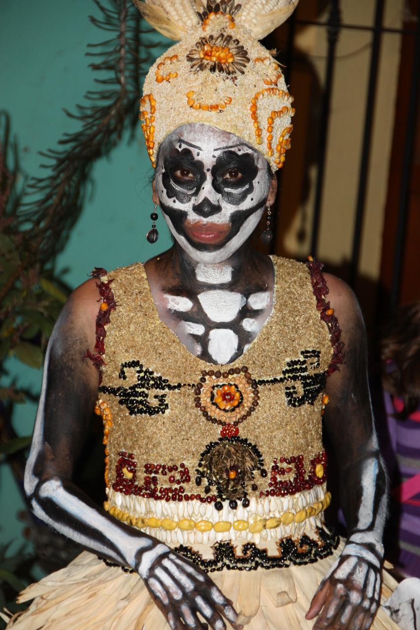 Woman in catrina costume